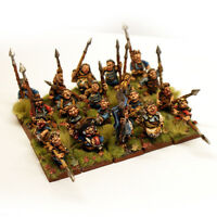 thebattleforge 28mm Halfling Militia Spearmen x20 - Spear Unit with Full Command