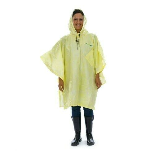 Variety of Colors PONCHO Lightweight Rain /& Wet Weather Multi-Use Waterproof