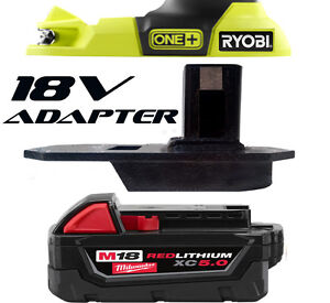 MILWAUKEE Battery Adapter to Ryobi 18v One+ Works with Ryobi 18v One+ Tools