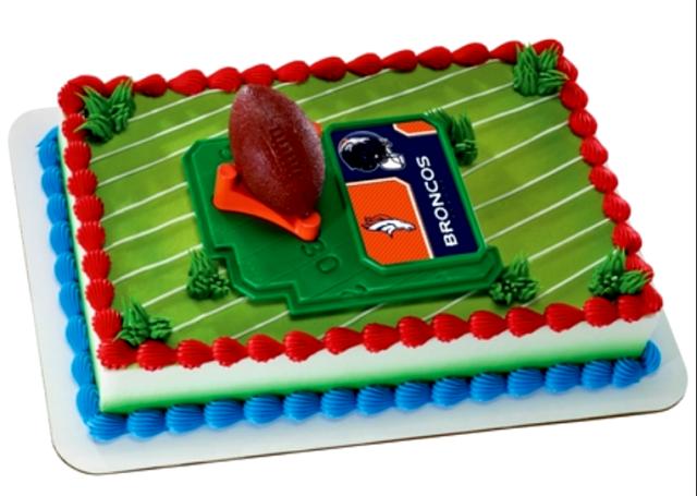 Super Decopac Nfl Cake Topper Kit Denver Broncos Football Logo Tee Birthday Cards Printable Trancafe Filternl