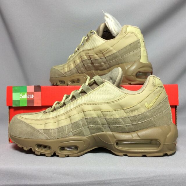 Nike Air Max 95 Premium UK11 538416 202 EUR46 US12 Khaki Gold Mushroom Suede PRM