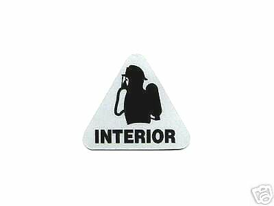 Fire Department INTERIOR SCBA Highly Reflective Vinyl Firefighter  DECAL