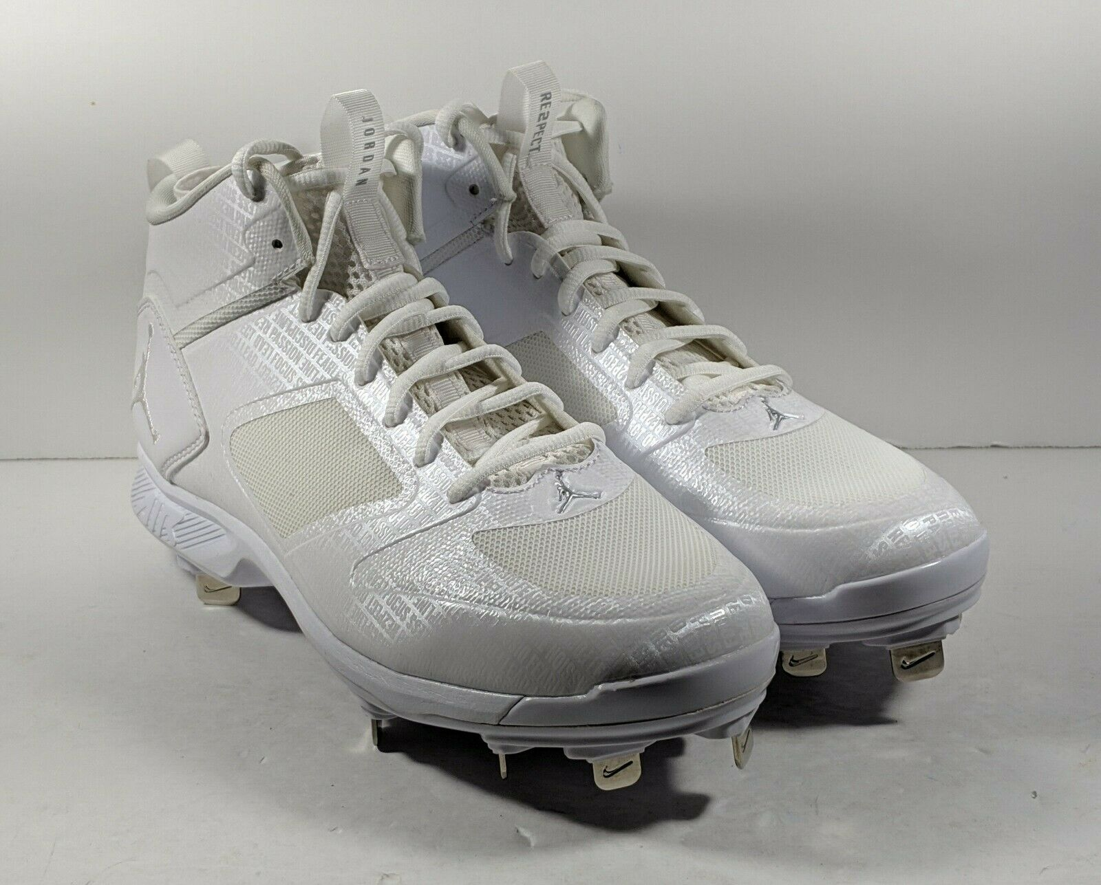 NEW Air Jordan Jeter Clutch Lux Metal Baseball Cleat White AO2914-102 Size 9