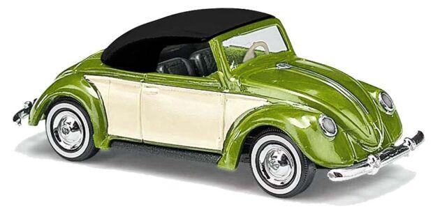 """Busch 46735 VW Hebmüller Coccinelle Cabriolet """" Metallicgrün/Beige """" Ho 1:87"""