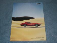 """2004 Hot Wheels 1:18 Scale 1969 Corvette Die-Cast Ad """"Almost too Real"""""""