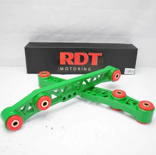 GREEN//RED LOWER SUSPENSION CONTROL ARM FOR 90-01 ACURA INTEGRA DA DC ALUMINUM