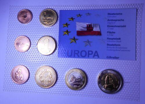 BU Probe GIBRALTAR Set coins 2006 Euro Probe//Prova