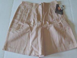 Jaclyn Smith Sport Shorts Size 10 Tan Khaki With Pleats Tag Waist Apx 29 Ebay