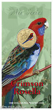 10 x 2011 Air Series - Crimson Rosella, One Dollar Pad Printed Coin Wholesale!