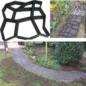 Image Is Loading DIY Garden Driveway Paving Brick Patio Mold Concrete