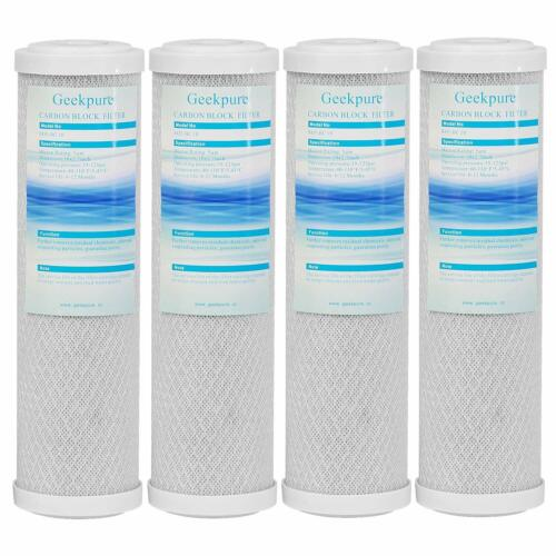4 Packs Coconut Shell Activated Carbon Block Water Filter Replacement Cartridge