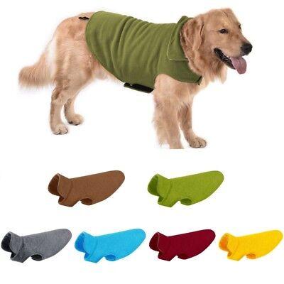 Pet Reversible Vest Dog Cat Polar Fleece Winter Warm Jacket Coat Sweater Clothes