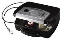 Hand Gun Pistol Handgun Safe Code Lock Box Key Cash Cable Security Travel Car