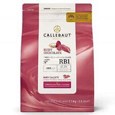 2,5 kg Callebaut Callets RUBY rosa RB1 feinste belgische Schokolade Kuvertüre