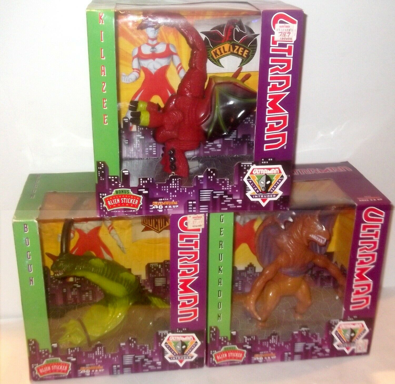 3 LOT ✰ Ultraman Bogun ✰ Gerukadon ✰ Kilazee ✰ Figure Alien Intruder Series 1991