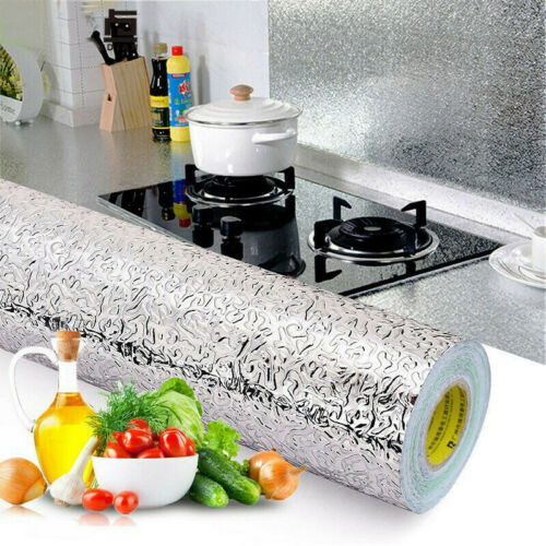 Waterproof New Wall Aluminum Self Adhesive Foil Sticker Oil-proof Kitchen Stove
