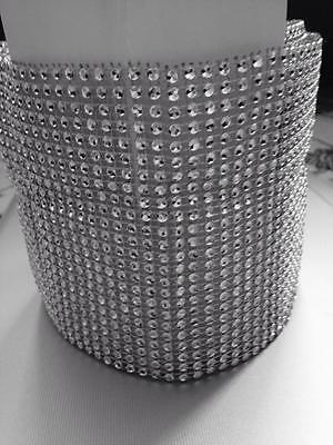 9 METRE WEDDING CAKE BLING TRIM DIAMONTE SPARKLY RIBBON  Silver 12 ROWS//60MM
