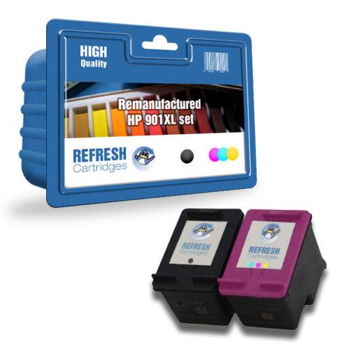 Hp 901xl//901 Schwarz und Dreifarbig Wiederaufgearbeitet Tintenpatrone Wert
