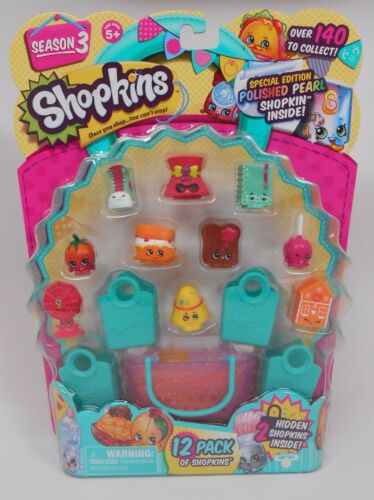 #5 Season 3 get EXACT pack as pictured!! NEW /& MINT!! Shopkins 12 Pack
