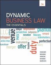 Dynamic Business Law: the Essentials by Nancy K. Kubasek Paperback Book 3rd Ed