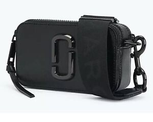 Details about Marc Jacobs Snapshot Small Camera Bag DTM Black/Logo Crossbody