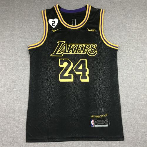 Classic Kobe Bryant #24 Los Angeles Lakers Basketball Jersey Stitched Black