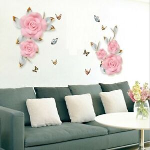 Wall-Stickers-Rose-Vine-Floral-Wall-Tattoo-Art-Decal-Home-Decor-Living-Room