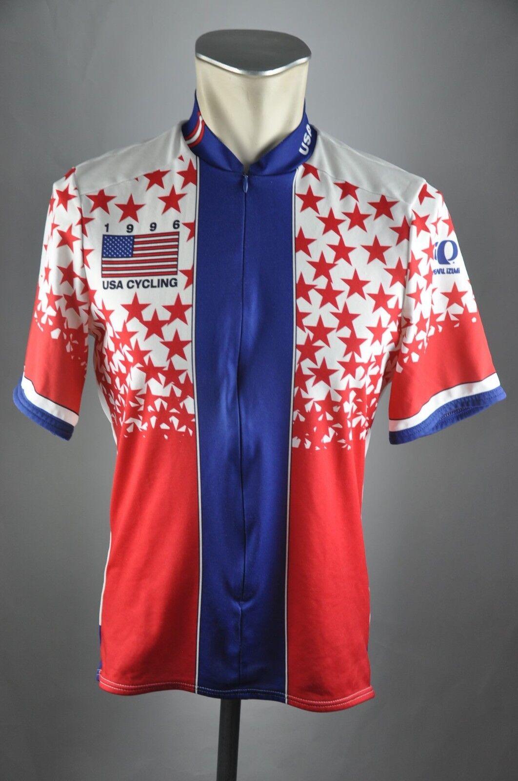 Pearl Izumi 1996 USA Gr. L 90er 54cm jersey Fahrrad Rad Trikot cycling L8