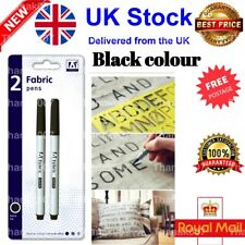 21 Pcs LAUNDRY PEN /& LABELS SET Fabric Markers Name Clothing Black Ink Tags UK