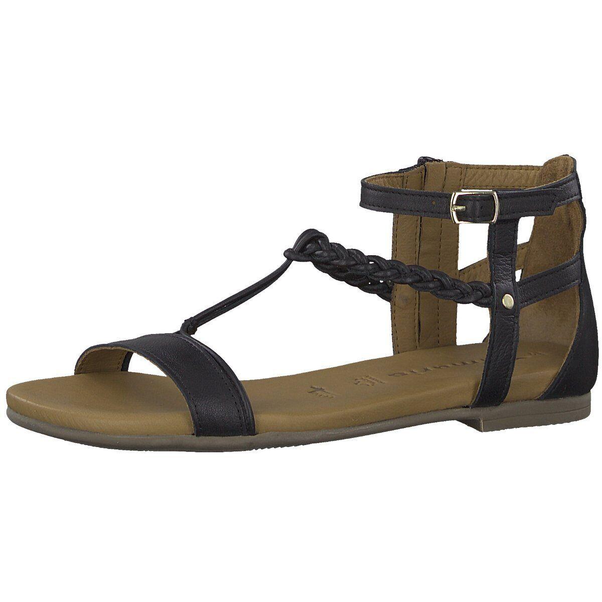 Tamaris Damen Sandaletten Woms Sandals 1-1-28043-22 007-007 schwarz 606104