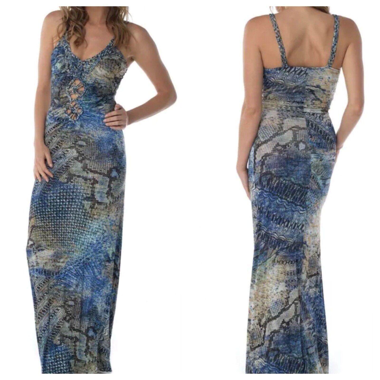 Sky Brand S Cobalt Blau Cut Out MAHER Maxi Dress--Small