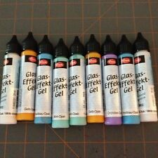 VIVA DECOR GLASS EFFECTS GEL Paint 4 Glass & more Stained Glass Look - 9 TUBES!