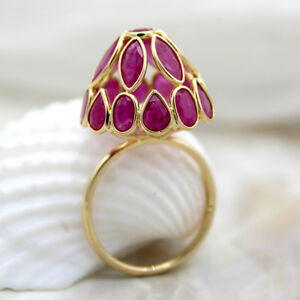 Natural-Ruby-Dome-Ring-Solid-18kt-Yellow-Gold-Statement-Ring-July-Birthstone