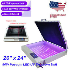 20 X 24 80w Vacuum Led Uv Exposure Unit Tabletop Precise Silk Screen Printing