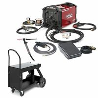 Lincoln Power Mig 210 Mp Welder W/ Tig Kit & Hd Cart (k4195-2)