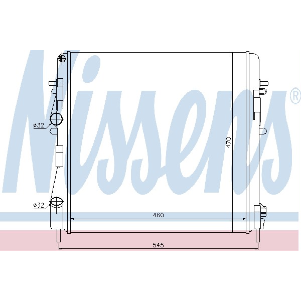 refrigeración del motor Radiador - Nissens 63762