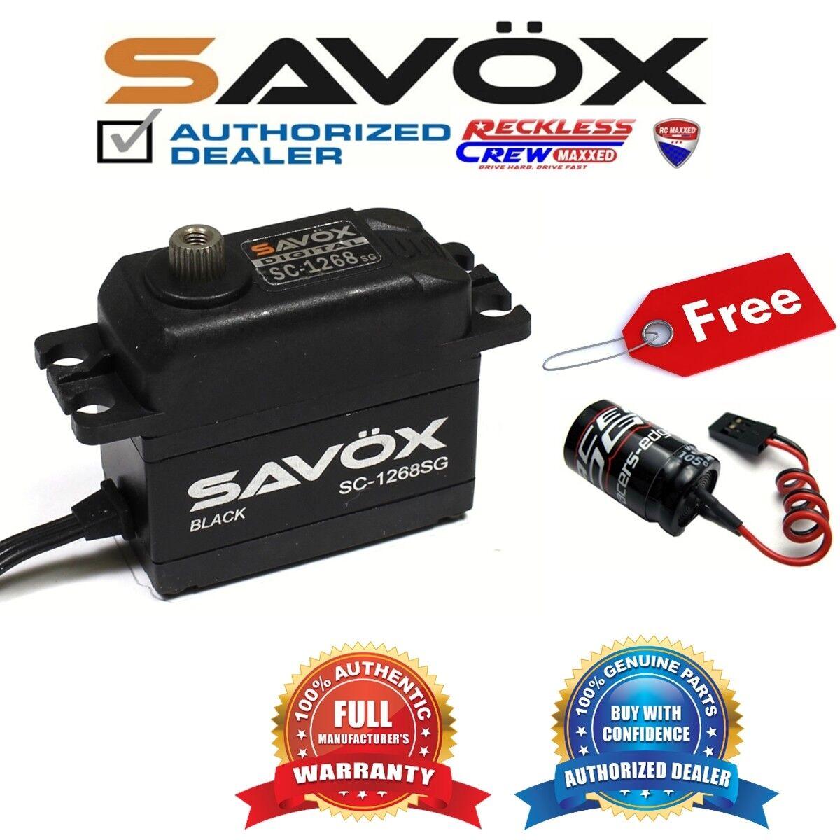 Savox SC-1268SG-BE Alto Torque Digital Servo Negro + Gratis Glitch Buster