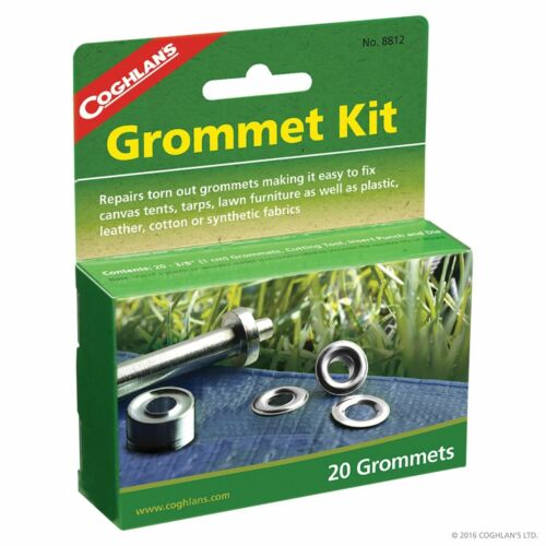 Insert punch /& die Coghlans Grommet Kit Fix Canvas Tents tarps inc Cutting Tool