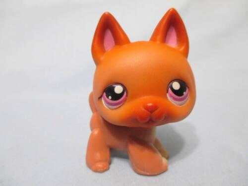 Littlest Pet Shop German Shepherd 454 With Purple Pink Eyes Authentic