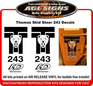 Thomas Skid Steer 153 S  Reproduction Decals  1 pair   graphics
