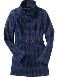 90 bleu en longue mélangée laine Nwt marine mélangée Veste veste OFHZn1Z