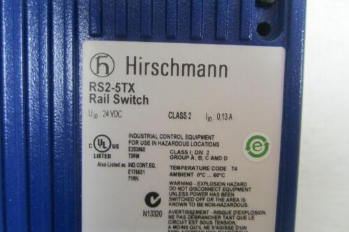 NEW HIRSCHMANN RS2-5TX ETHERNET SWITCH RS25TX