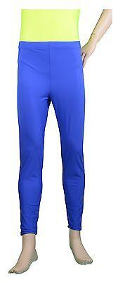 Ballet Dance Gym Jazz Tap Yoga Mens Fluro Red Nylon Lycra Tights Pants