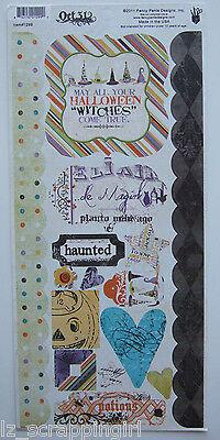 ~HALLOWEEN~ Fancy Pants Designs Cardstock Stickers, October Oct 31, scrapbooking