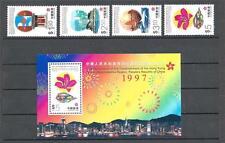 Hong kong China Sc# 793/98a Sight view & Simbols 4 stamsp & souv sheet MNH