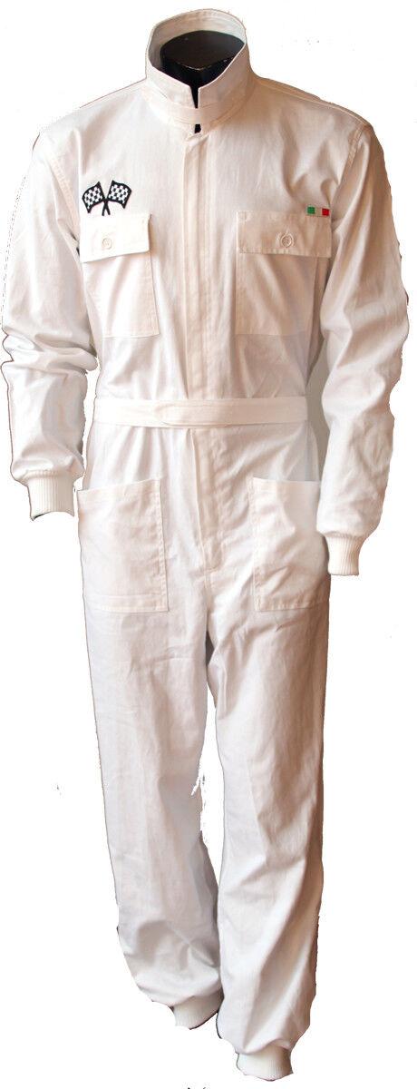 Tuta intera 100% cotone Piloti anni anni anni 50 60 ideale per autoraduni d'epoca Team 964cdd