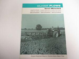 original 1963 Oliver 565 Moldboard Plow sales Brochure Catalog Tractor