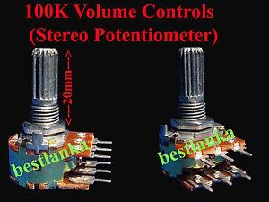 10pcs-100k-Lautstaerkeregler-Stereo-Potentiometer-Dual-Audio-Rotary-Control