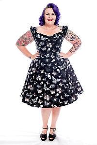 Pinup BUTTERFLY EFFECT Tea Dress ~ Vintage 50s Psychobilly Plus Size ...