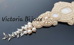Bridal-pearl-and-natural-stones-Bracelet-wedding-bridesmaids-gift-jewellery-039-s